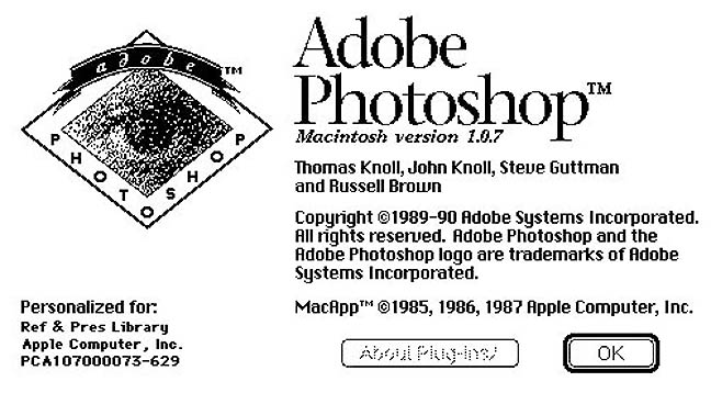 Adobe Photoshop v1
