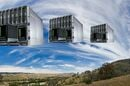 storage arrays superimposed on cloudy sky
