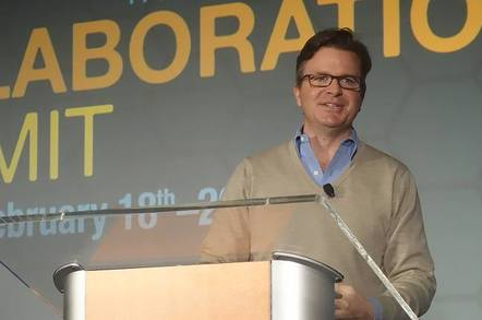 Jim Zemlin, speaking at Linux Foundation Collaboration Summit 2015