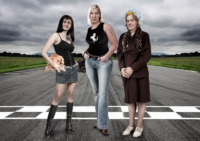 How Top Gear would look if it were presented by women. Artwork by stevecaplin.com for Radio Times