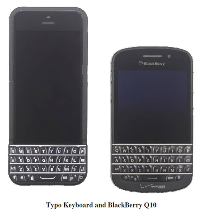 Typo's keyboard with Blackberry's