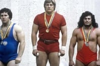 1980 olympics weight-lifting champs. By RIA Novosti archive, image #484445 / Dmitryi Donskoy / CC-BY-SA 3.0