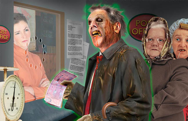 Zombie pensioners. Artwork by stevecaplin.com for the Sunday Telegraph