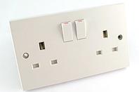 GSM bugged double UK mains socket