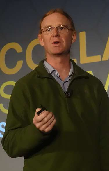 Jon Corbet at the Linux Foundation Collaboration Summit 2015