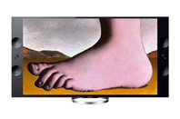 Monty Python foot in UHD TV