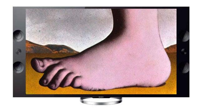 Monty Python foot in UHD TV