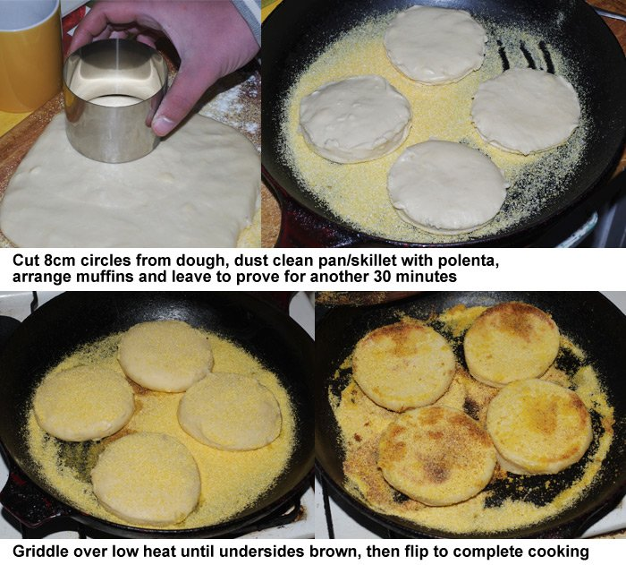 The final four muffin preparation steps