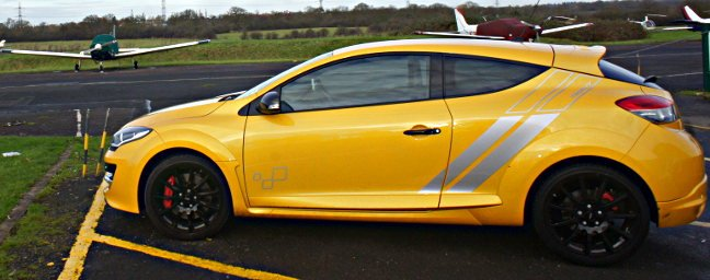 Megane Renaultsport 275 at an airfield. Pic: Simon Rockman