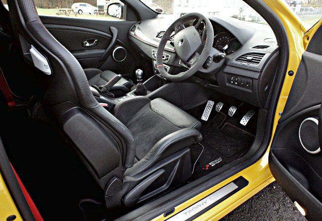 Megane Renaultsport 275 cabin. Pic: Simon Rockman