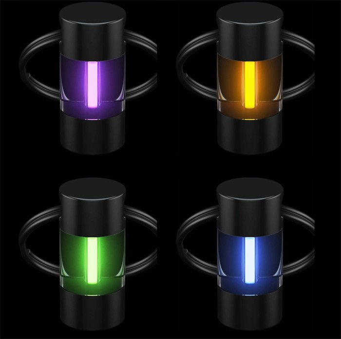 The four colours of mini glowring