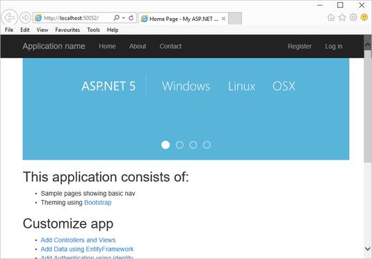 Cross-platform hosting for ASP.NET