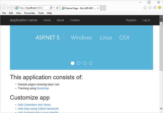 Cross-platform hosting for ASP.NET