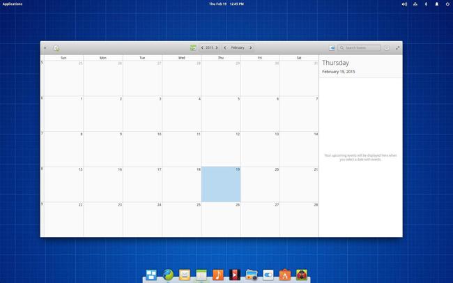 Elementry OS calendar