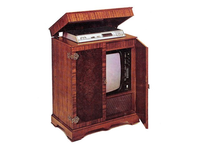 Early 1970s Dynatron Sandringham TV and Philips N1500 VCR