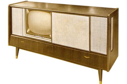 Grundig Fernseh-Stereo-Konzertschrank Zauberspiegel 61 M 1 from 1959