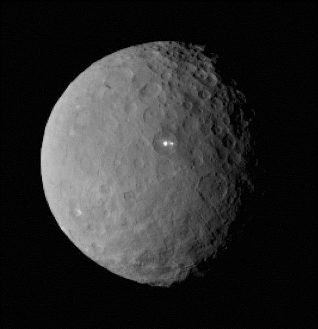 Dwarf planet Ceres has TEN bright spots, astroboffins say