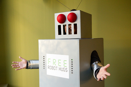 Free Robot Hugs by Ben Husmann https://www.flickr.com/photos/benhusmann/sets/72157594246596196