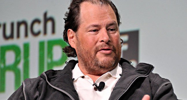 Marc Benioff of Salesforce. Pic: Techcrunch