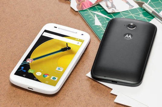 Motorola Moto E on a desk. Pic: Motorola