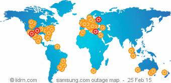 Samsung outage map