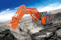 Hitachi mining shovel and rigid dumptruck