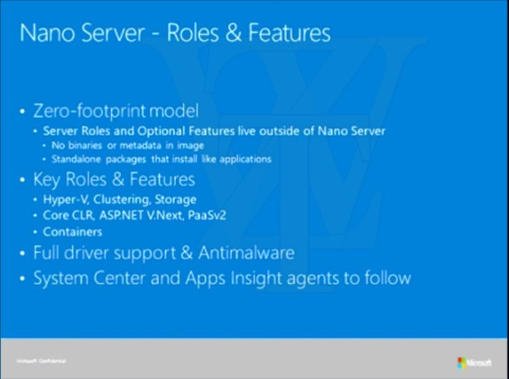 The role of Windows Nano Server