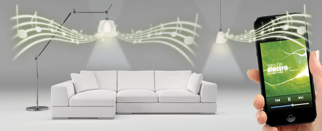 Want more from your lights? AwoX turns them into speakers, tooSyfy channel iPad lighting app