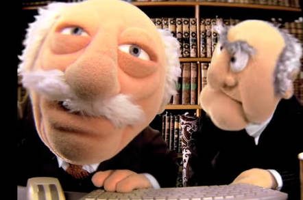 Statler and Waldorf - copyright - The Walt Disney company - the muppets studio