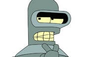 Bender the robot from Futurama