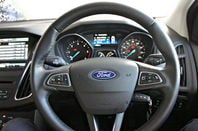 Ford Focus steering wheel. Pic: Simon Rockman