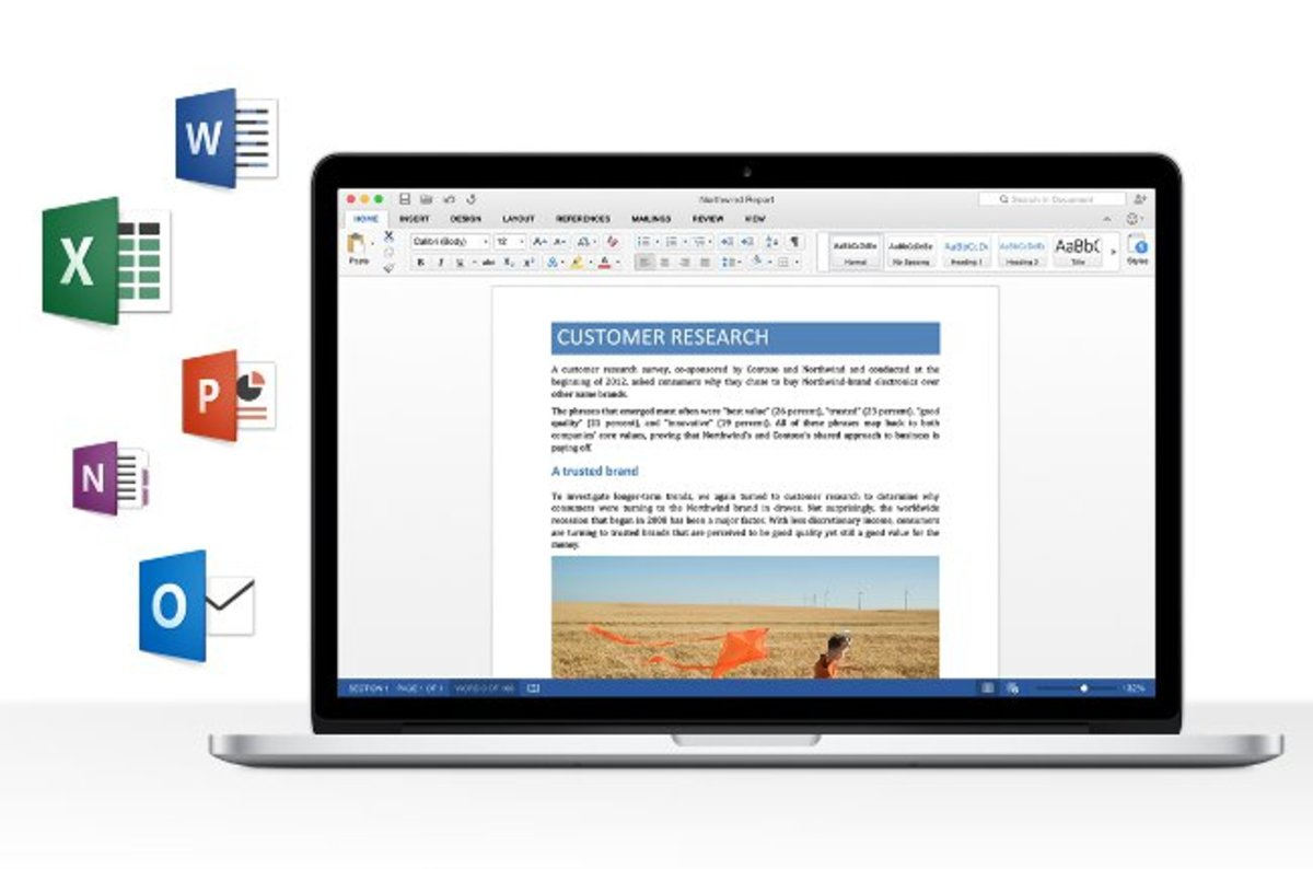 how to find ms office on a mac