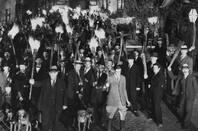 An angry mob