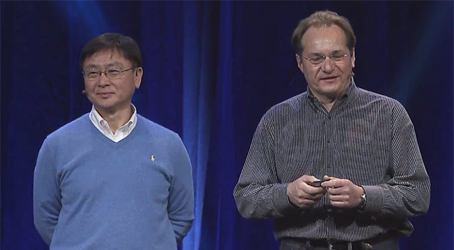 Foxconn's Foo-Ming Fu and HP's Alain Andreoli
