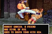 Art of Fighting video game two characters fightin