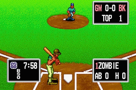 Baseball Stars Professional in-game action