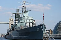 HMS Belfast on the Thames. Pic: Nick Hewson