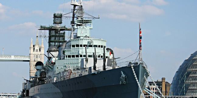 HMS Belfast on the Thames. Pic: Nick Hewson