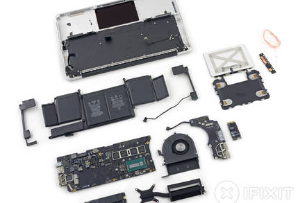 Torn down MacBook Pro