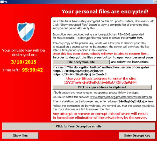 Hi! You\u0027ve reached TeslaCrypt ransomware customer support. How may
