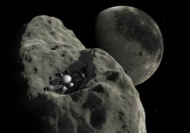 Automatic asteroid mining
