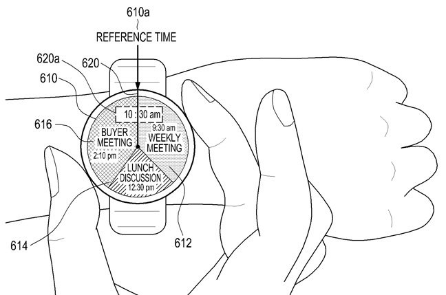 Samsung watch uses the bezel as part of the user interface