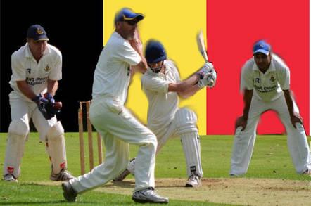 Belgian cricket. Original pic: Simon Blackley