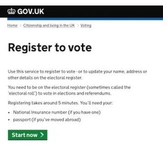 GDS Registration Screenhot
