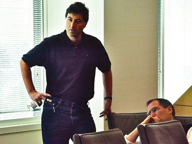 Software chief Avie Tevanian with Steve Jobs