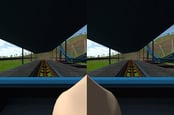 A 'Virtual Nose' designed to lessen motion sickness in simulations
