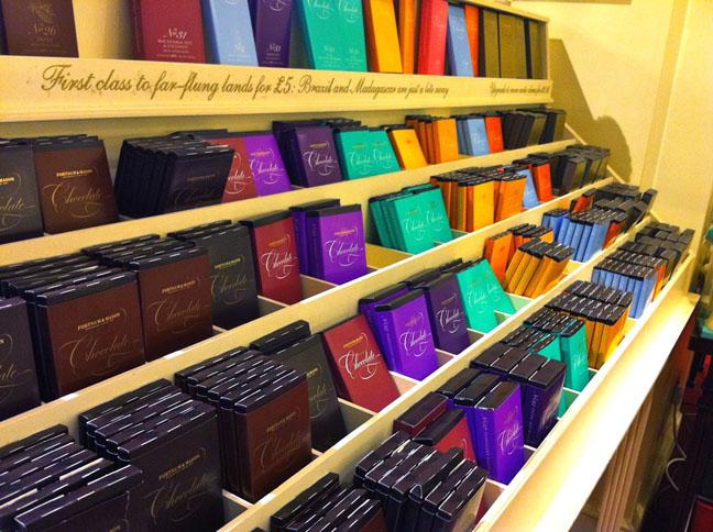 Fortnum and Masons chocolate bars