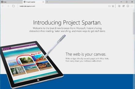 Project Spartan screenshot
