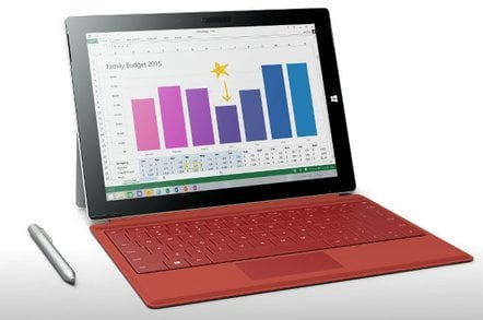 Surface 3 in red