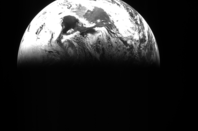Rosetta's view of Earth on March 5th, 2005